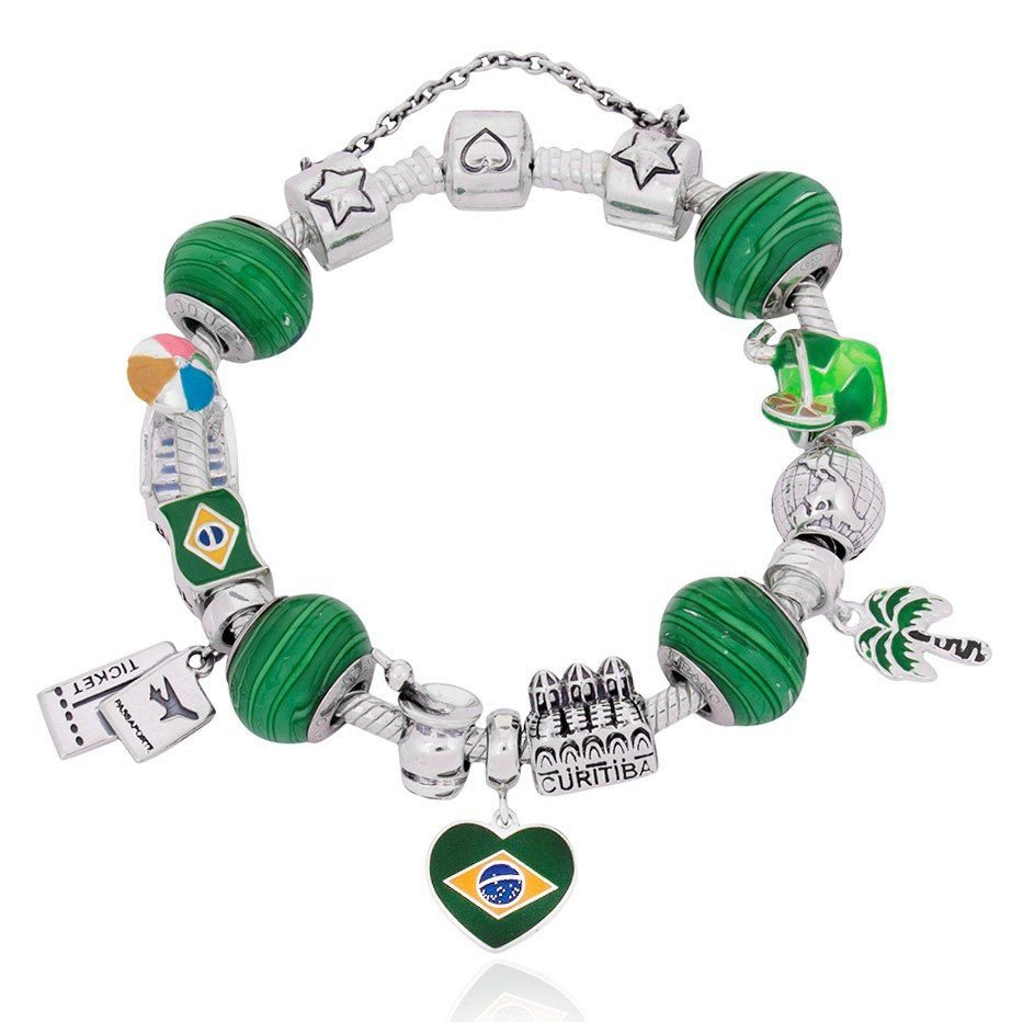 Berloque Bandeira Do Brasil II