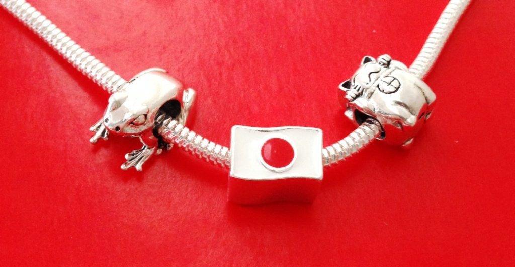 Berloque Bandeira Do Japão