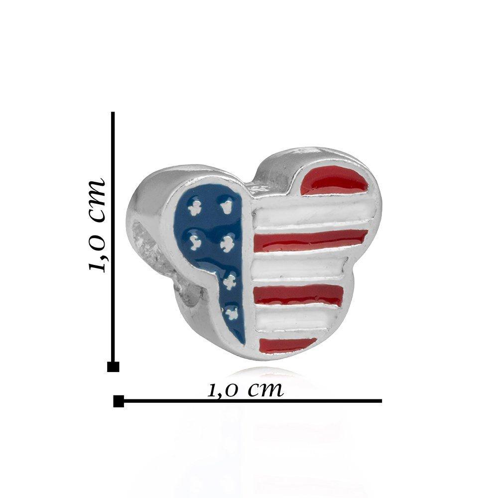Berloque Bandeira Dos Estados Unidos