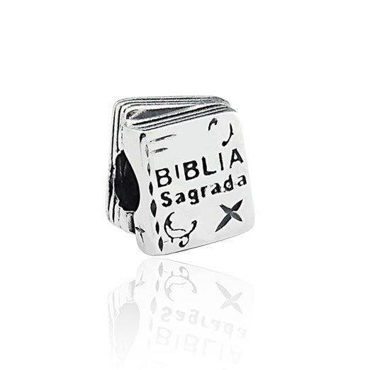 Berloque Bíblia Sagrada Prata