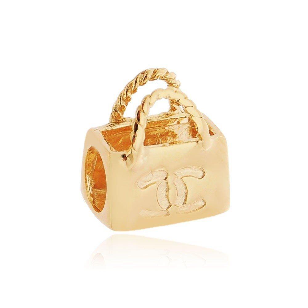 Berloque Bolsa Chanel Dourada