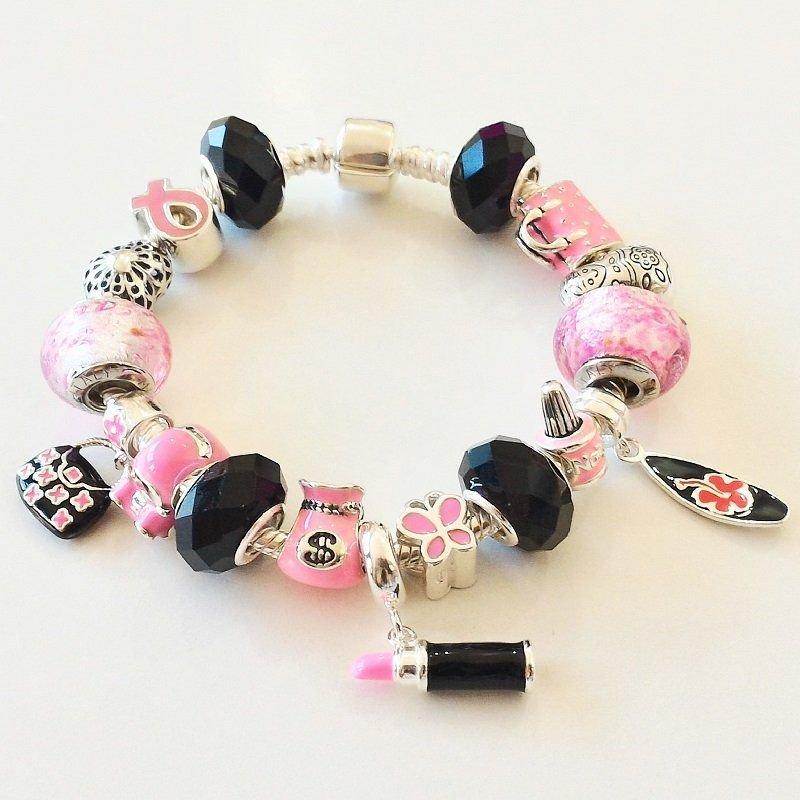 Berloque Borboleta Rosa Mini