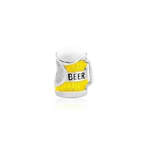 Berloque Caneca de Cerveja Amarela