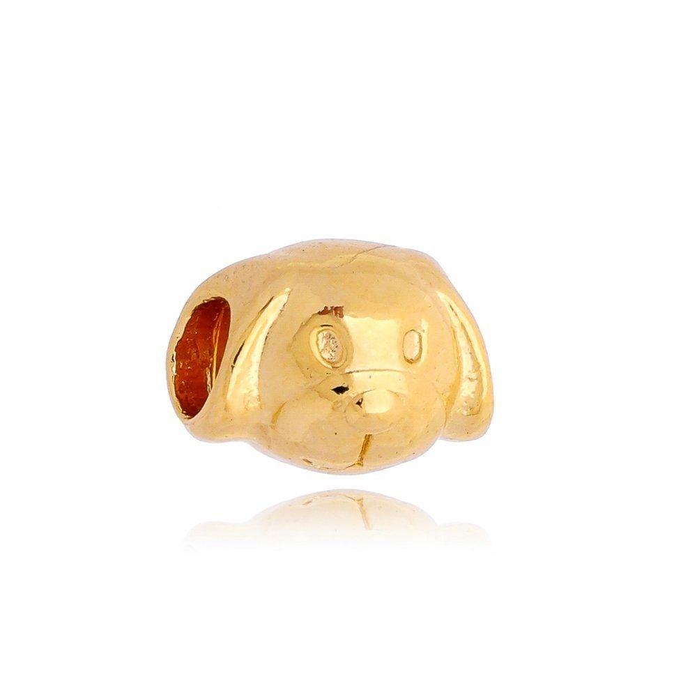 Berloque Carinha de Cachorro Dourada