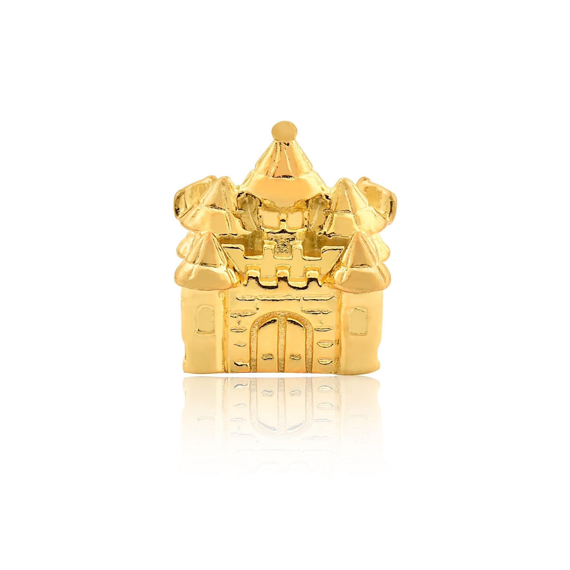 Berloque Castelo Da Majestade Dourado