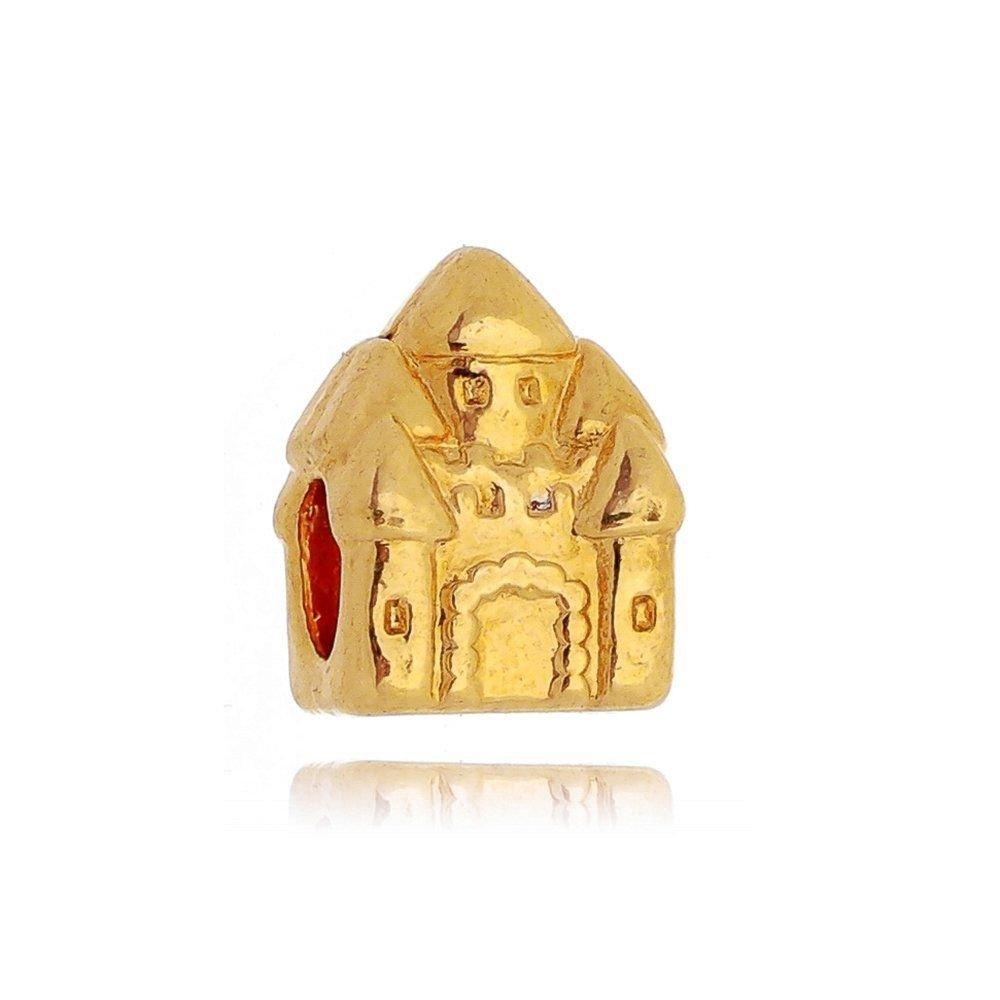 Berloque Castelo de Princesa Dourado