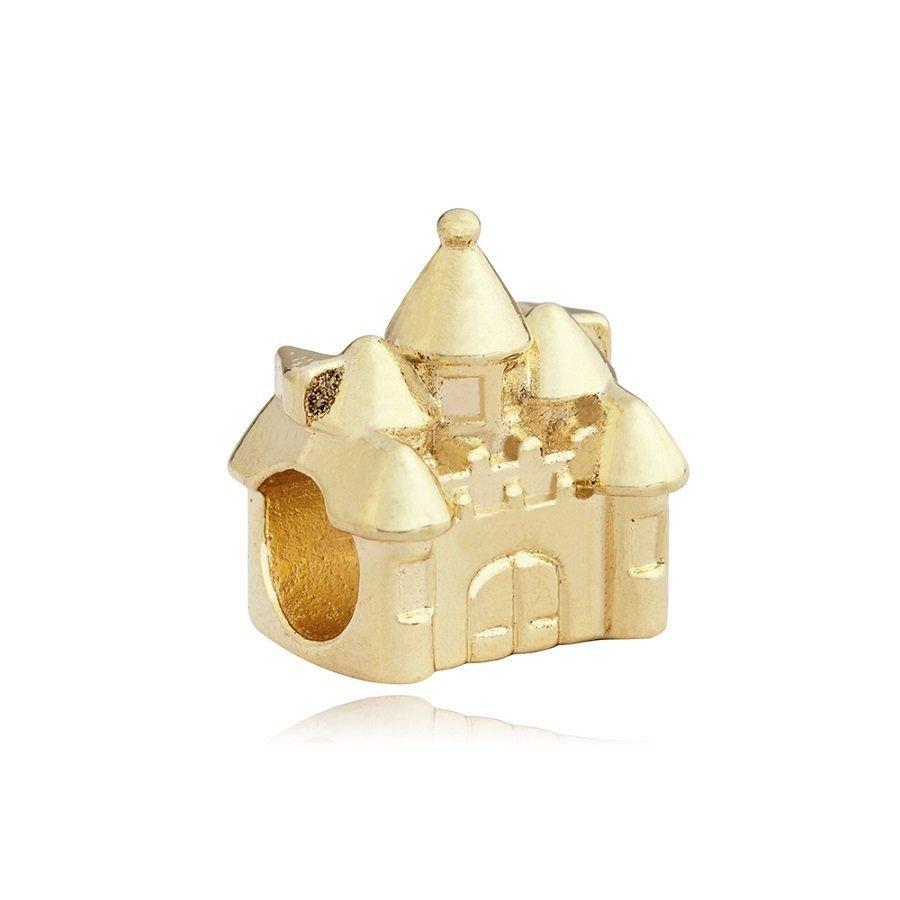 Berloque Castelo Fantasia Dourado