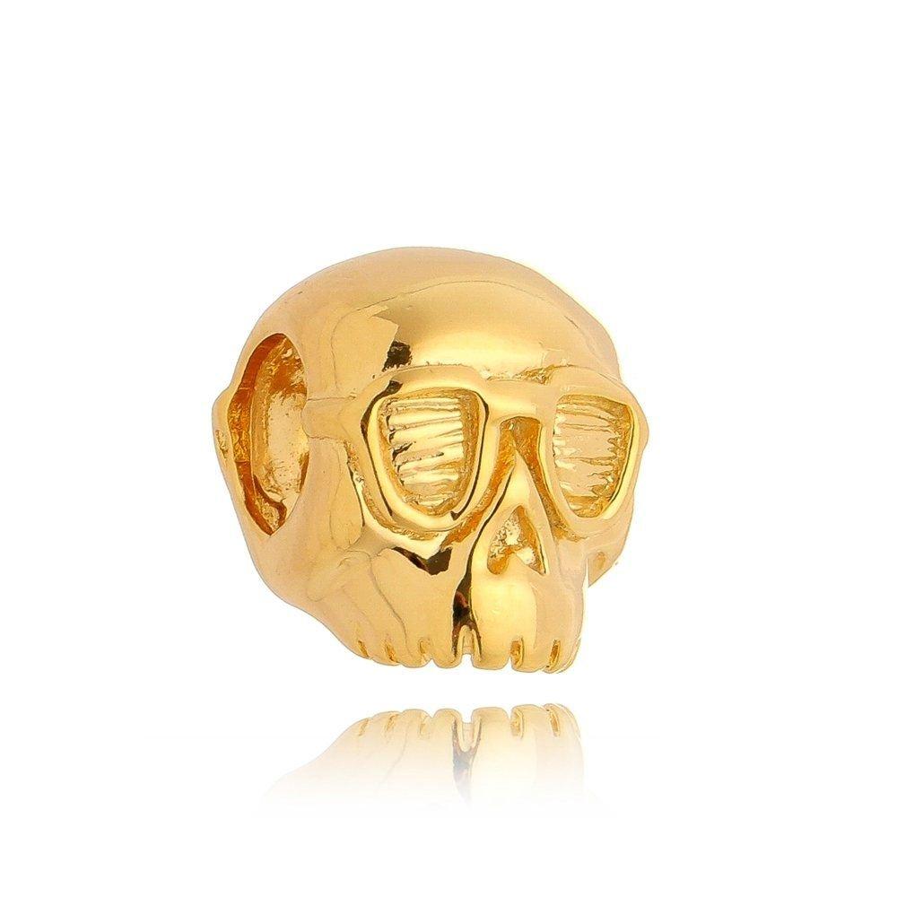 Berloque Caveira Dourada