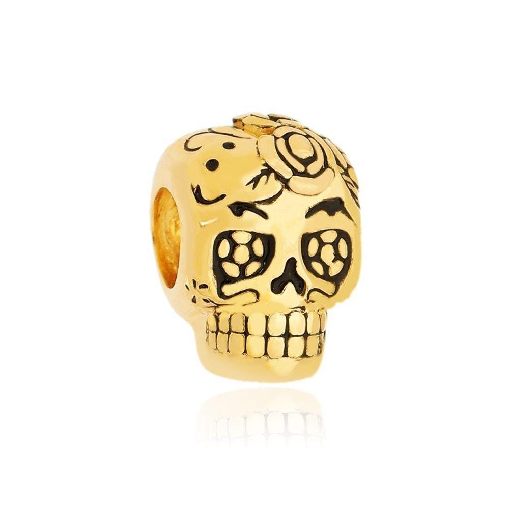 Berloque Caveira Mexicana Dourada
