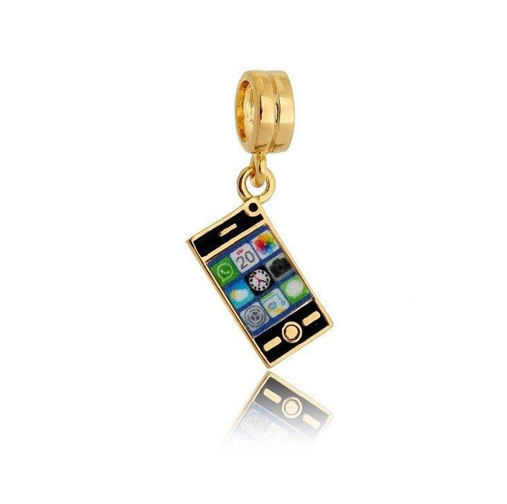 Berloque Celular Dourado