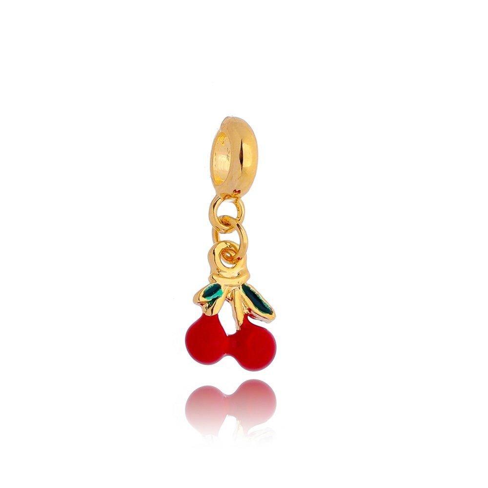 Berloque Cereja Dourada