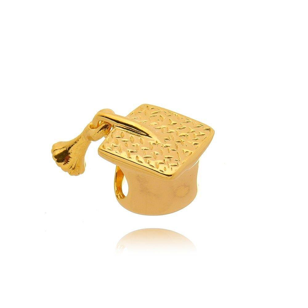 Berloque Chapéu de Formatura Dourado