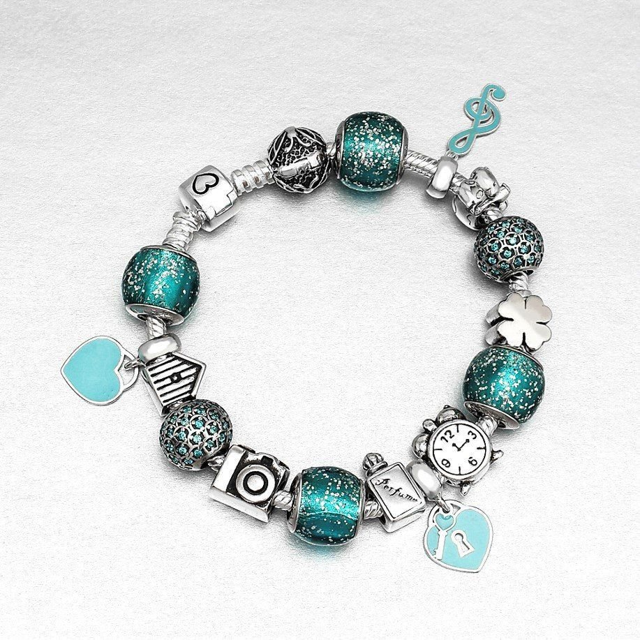 Berloque Clave de Sol Azul Tiffany