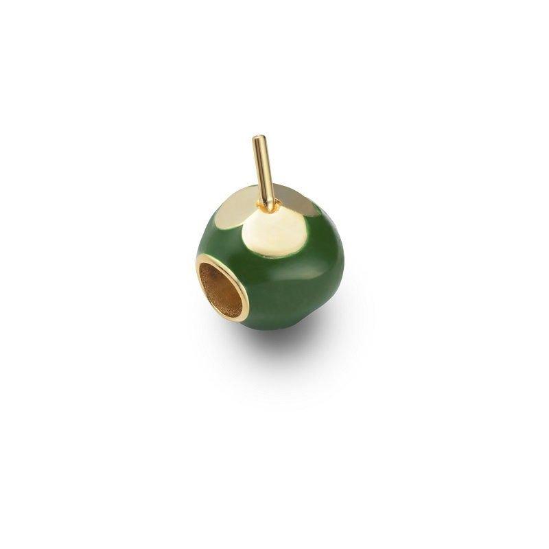 Berloque Coco Verde Dourado