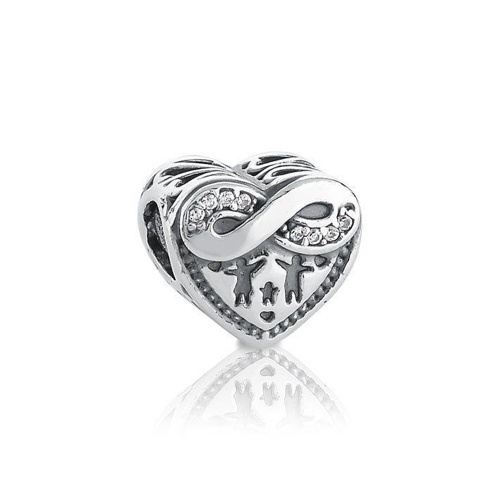 Berloque Coração Amor Infinito