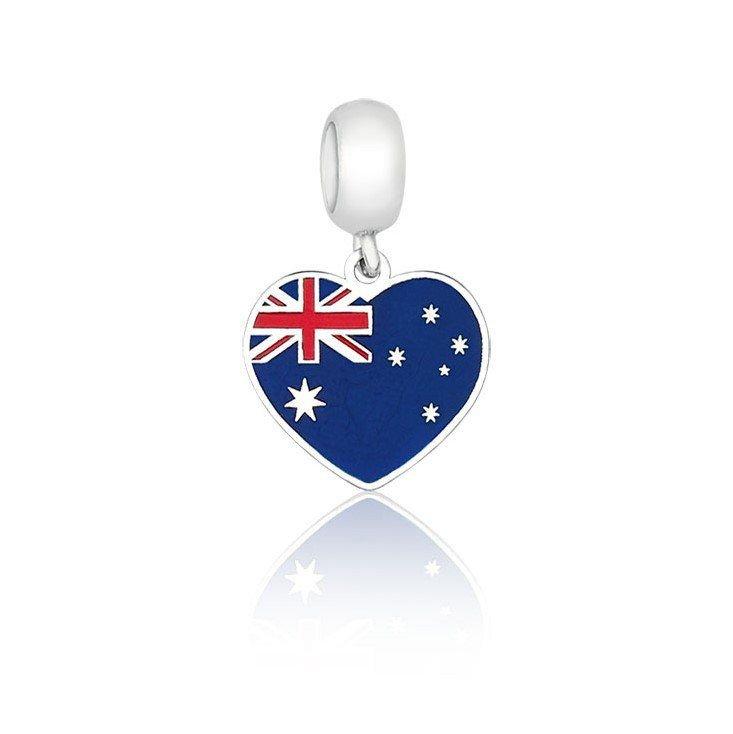 Berloque Coração Austrália