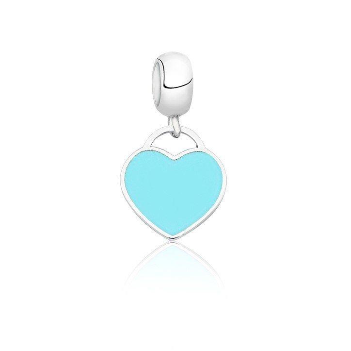 Berloque Coração Azul Tiffany