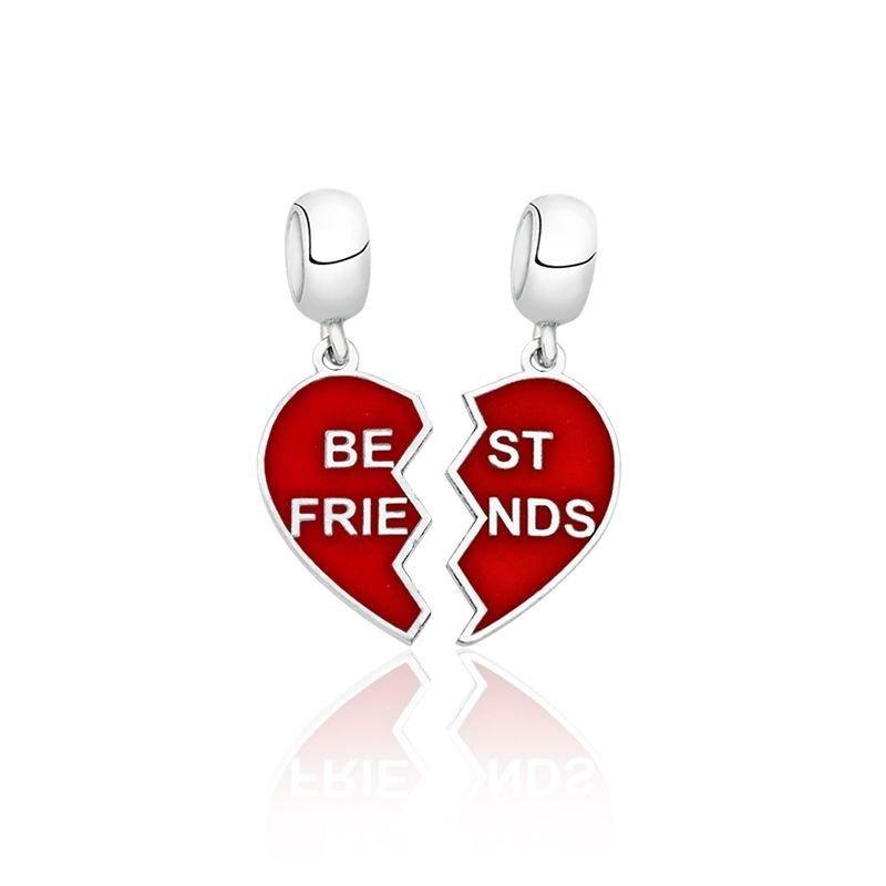 Berloque Coração Best Friends Vermelho