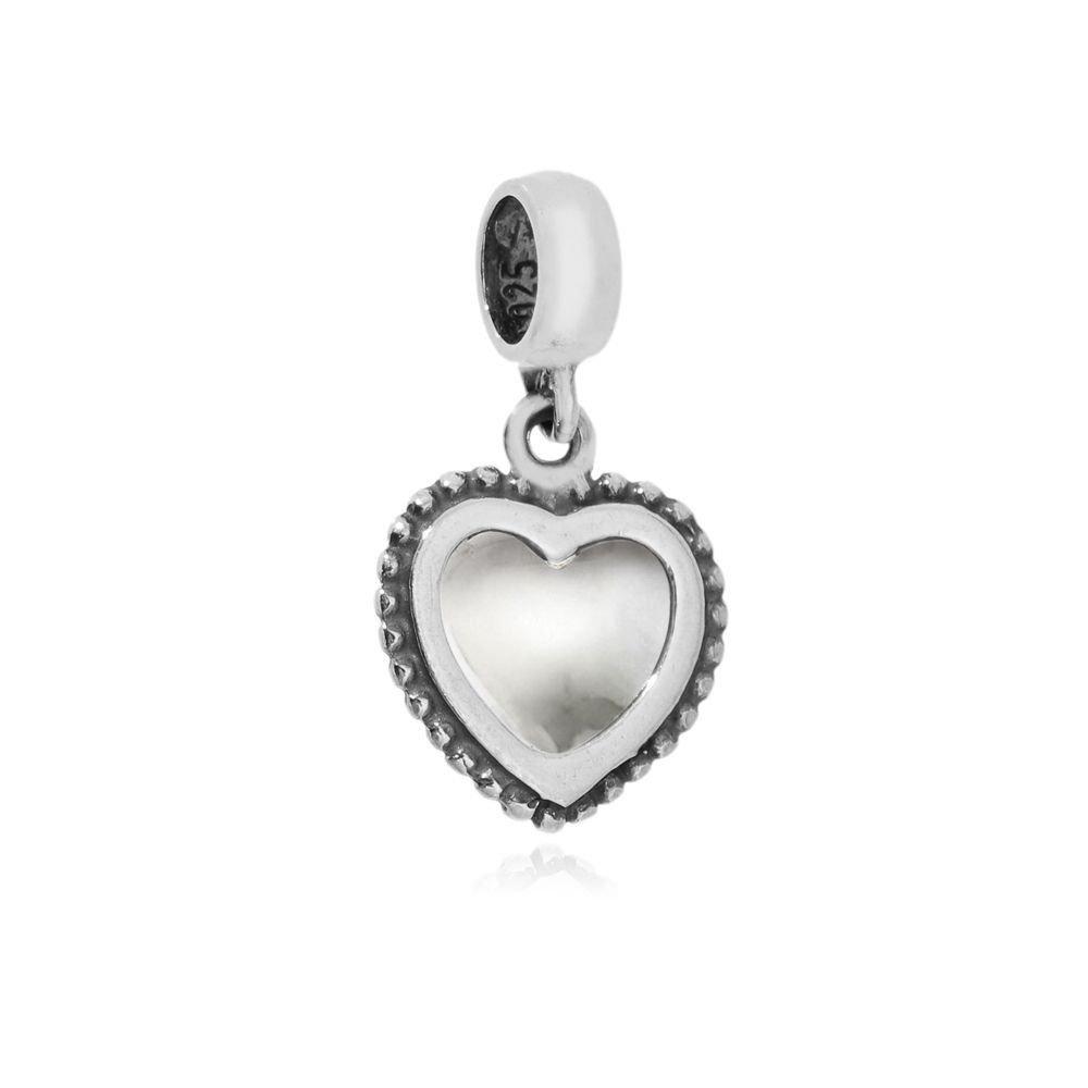 Berloque Coração Cristal