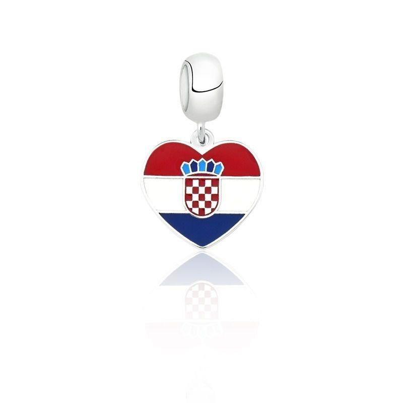 Berloque Coração Croácia