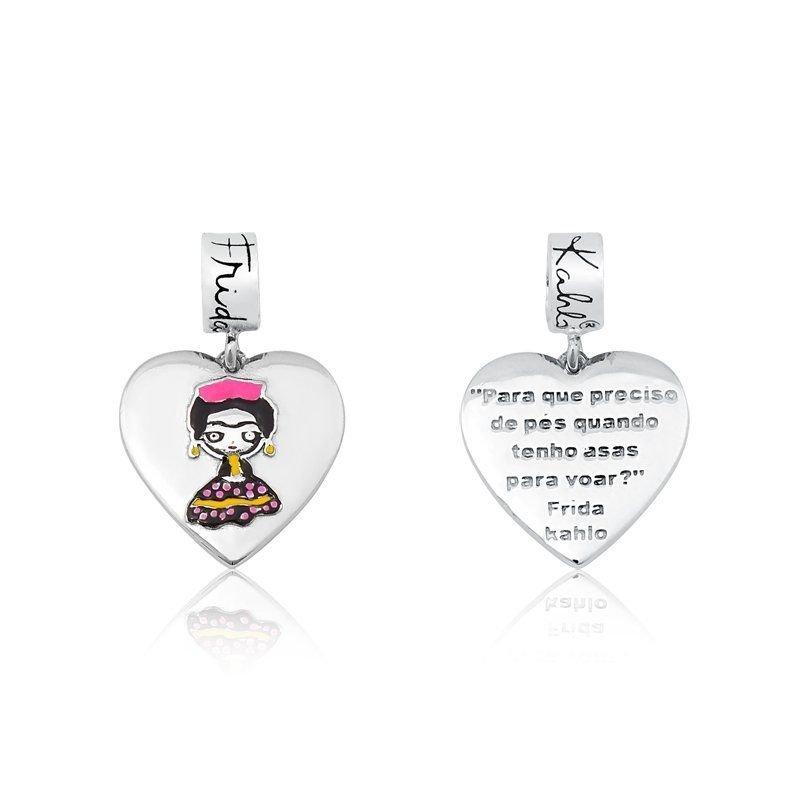 Berloque Coração Frida Kahlo Frases
