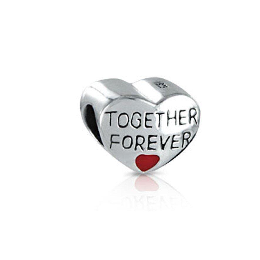 Berloque Coração Juntos Para Sempre