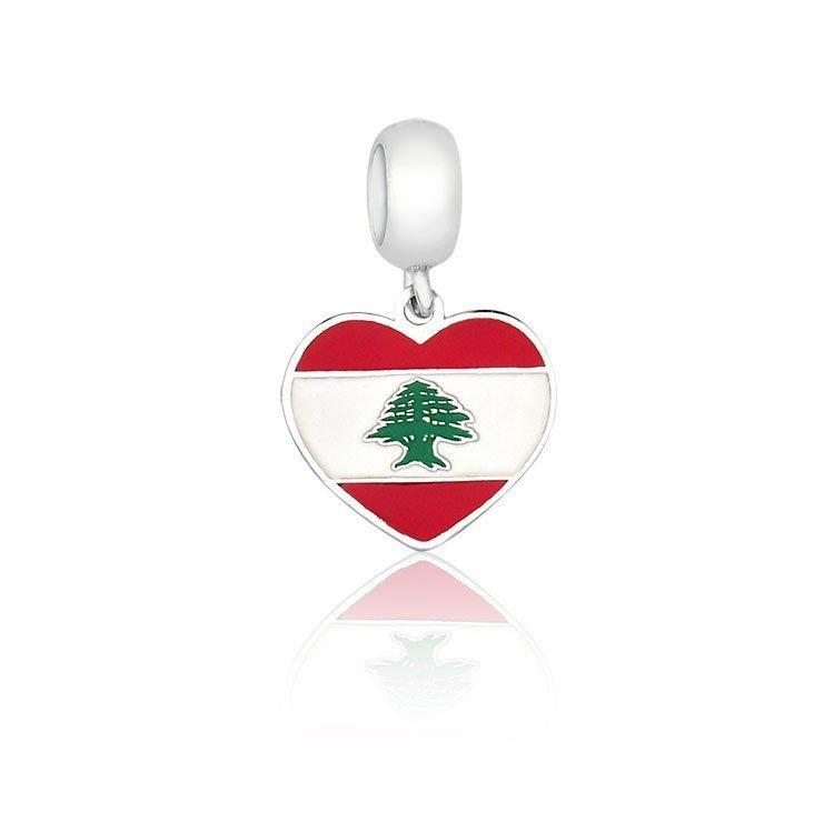 Berloque Coração Líbano