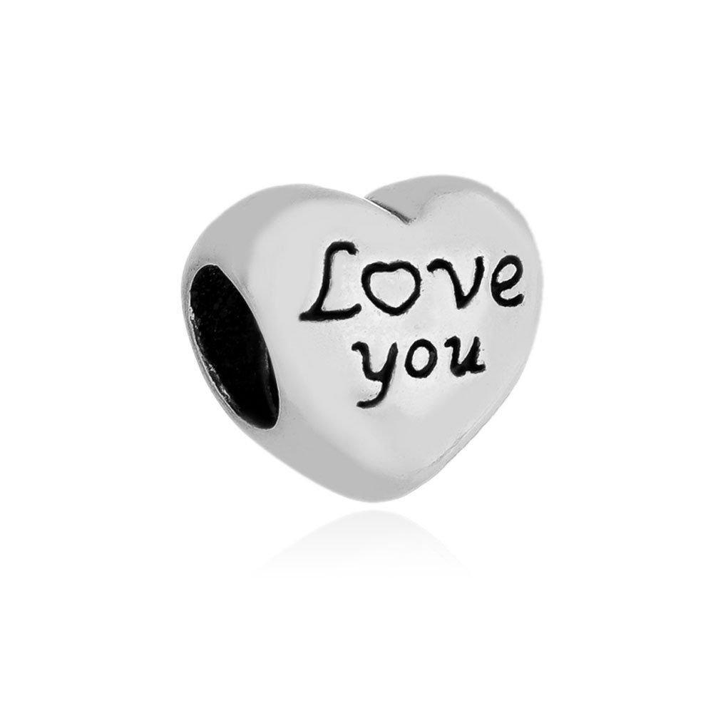 Berloque Coração Love You