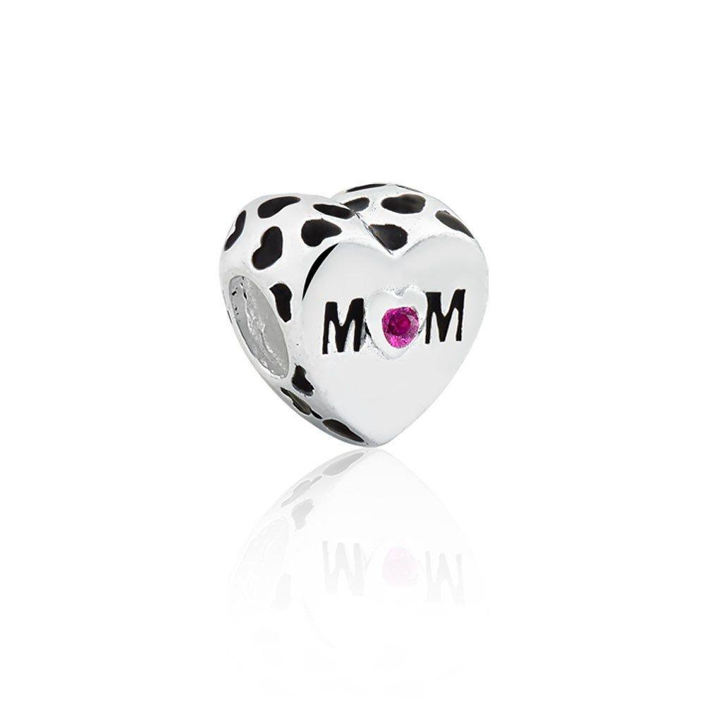 Berloque Coração Mamãe