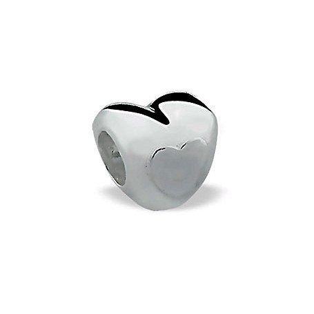 Berloque Coração Mini de Prata