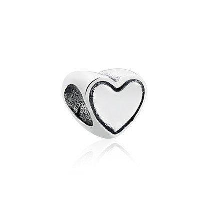 Berloque Coração Mini Prata
