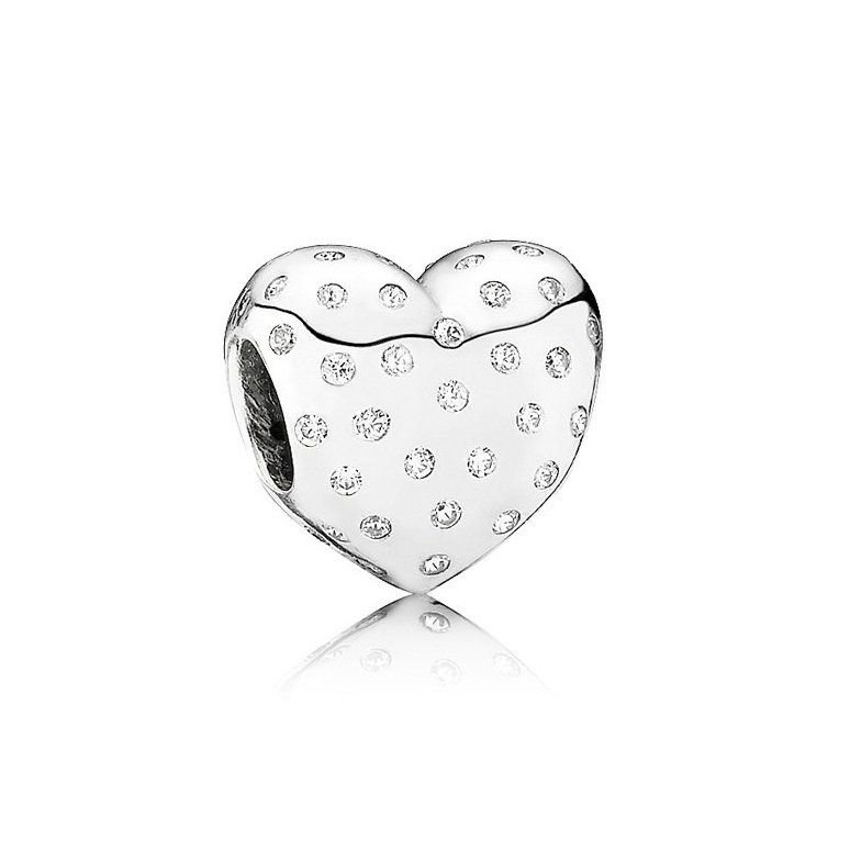 Berloque Coração Mini Zircônias