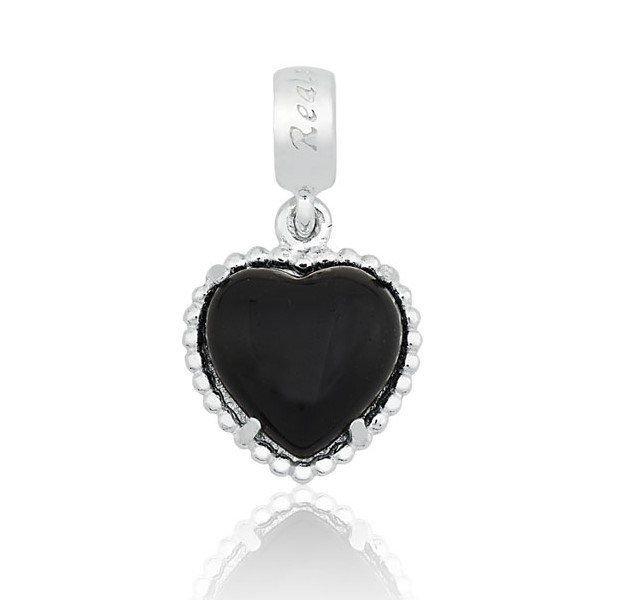 Berloque Coração Obsidiana