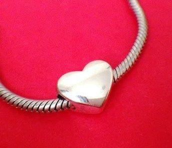 Berloque Coração Prata