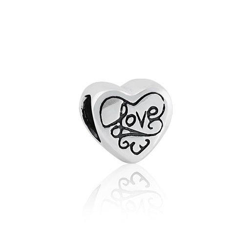 Berloque Coração Prata Love