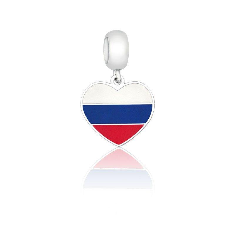 Berloque Coração Rússia