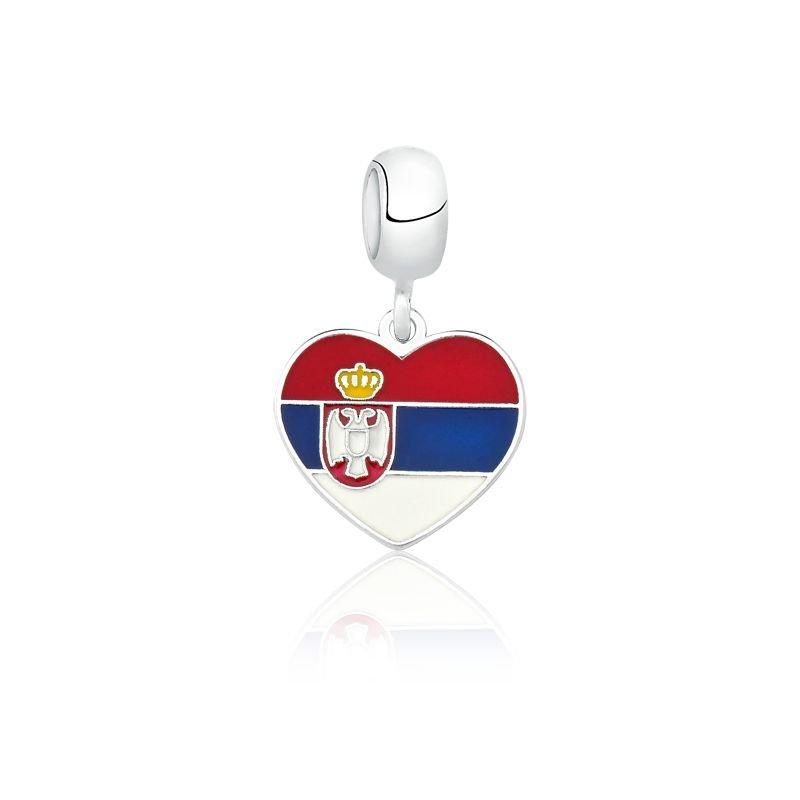 Berloque Coração Sérvia