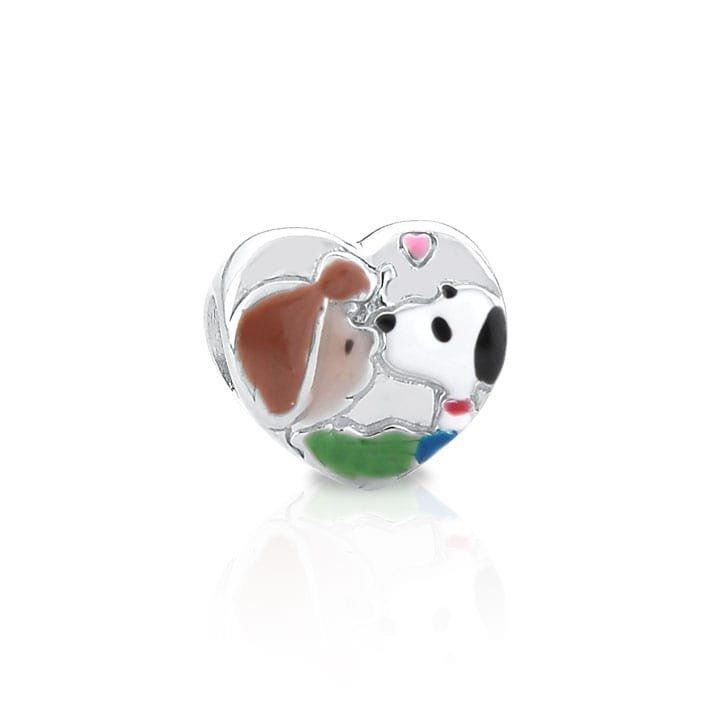 Berloque Coração Snoopy Apaixonado