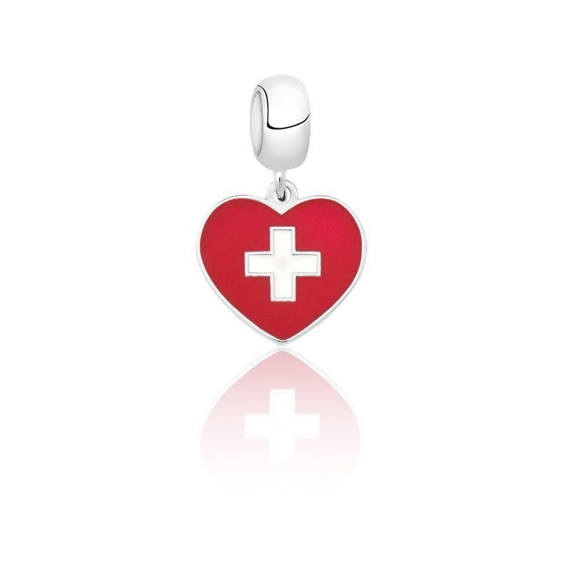 Berloque Coração Suíça