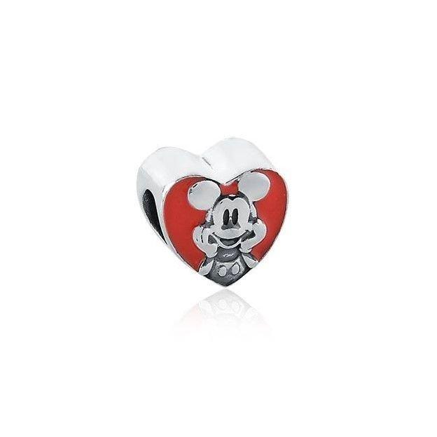 Berloque Coração Vermelho Ratinho