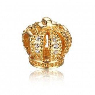 Berloque Coroa Dourada Zircônias
