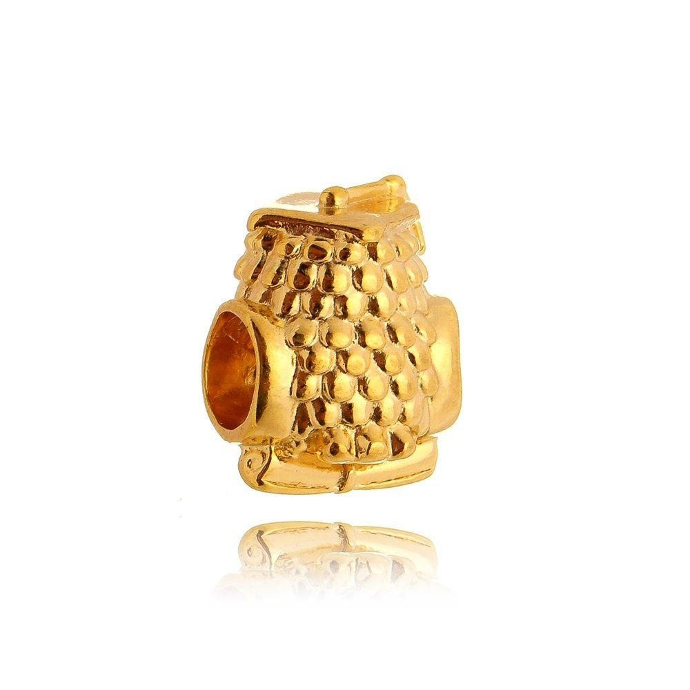 Berloque Coruja Da Sabedoria Dourada