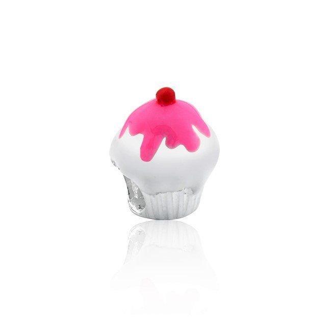Berloque Cupcake Rosa