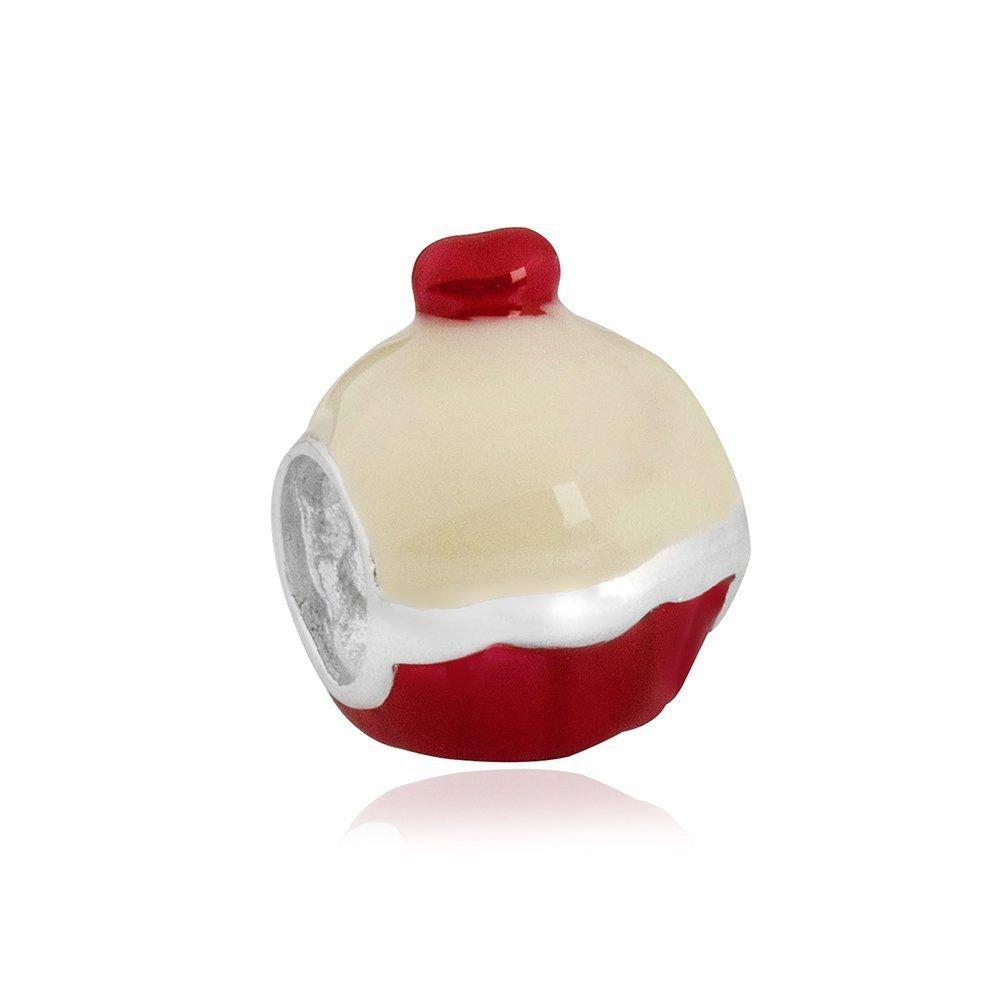 Berloque Cupcake Vermelho