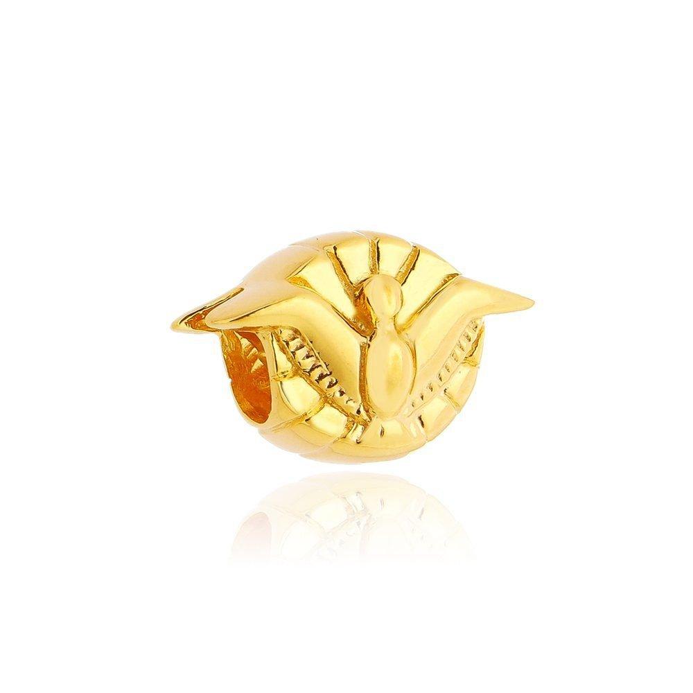 Berloque Divino Espírito Santo Dourado