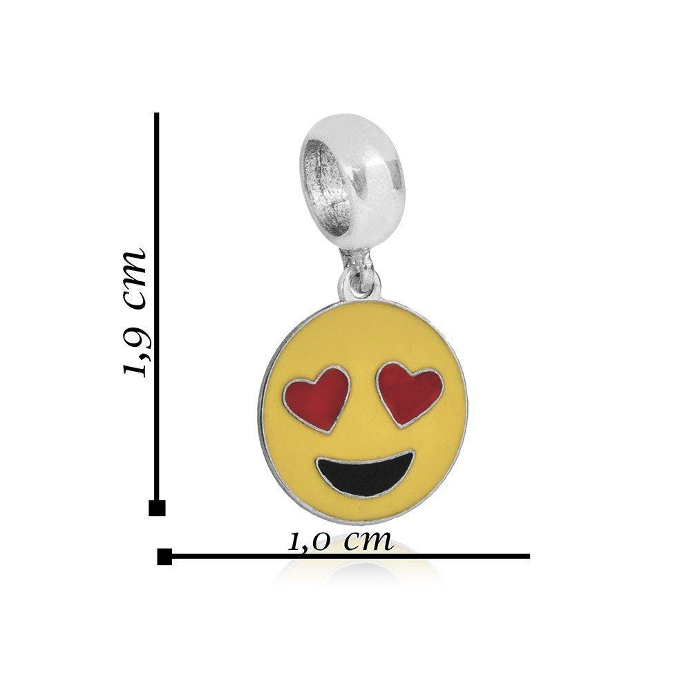 Berloque Emoticon Apaixonado