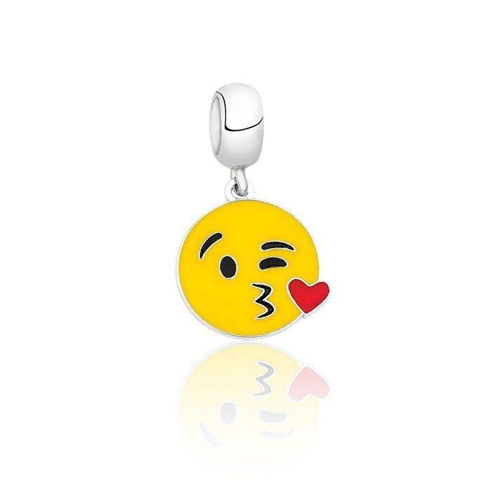 Berloque Emoticon Beijinho