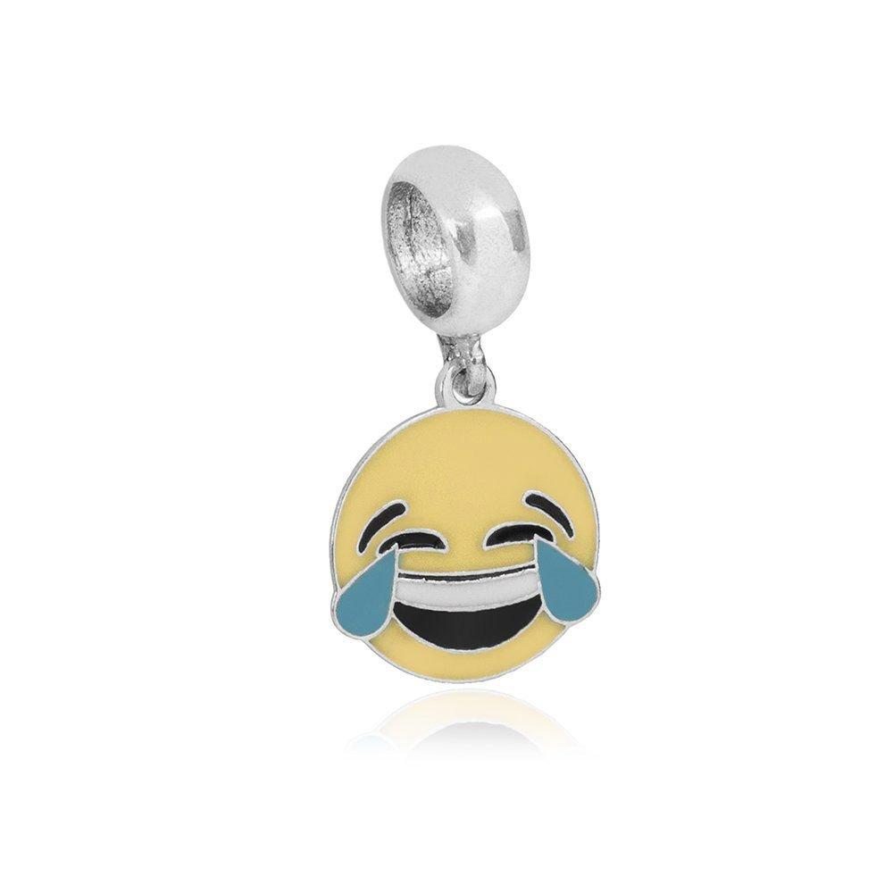 Berloque Emoticon Chorando de Rir