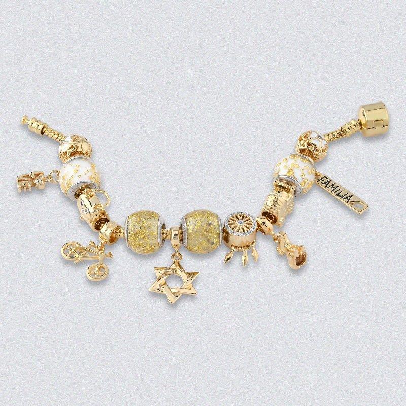 Berloque Estrela de Davi Dourada II