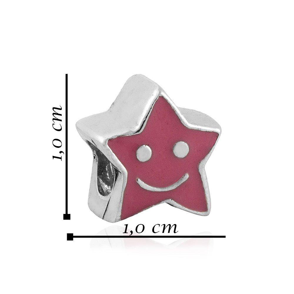 Berloque Estrela Rosa